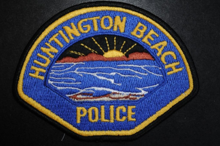 Huntington Beach Police Patch, Orange County, California (Current 1971 - 3rd Issue - High Tide Style)