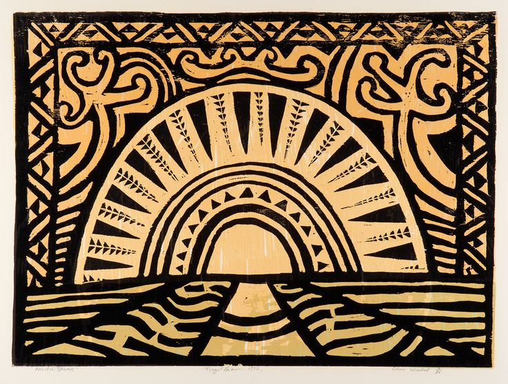 Nigel Brown Pacific Solar (1992) Colour woodcut  700 x 900mm