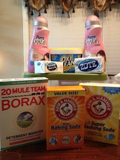 homemade baby laundry detergent. DANG IT! I wish I would have seen this sooner so I knew about the baby Purex Crystals. Then the whole batch I made would have been safe for baby. Oh well, just make more I guess.