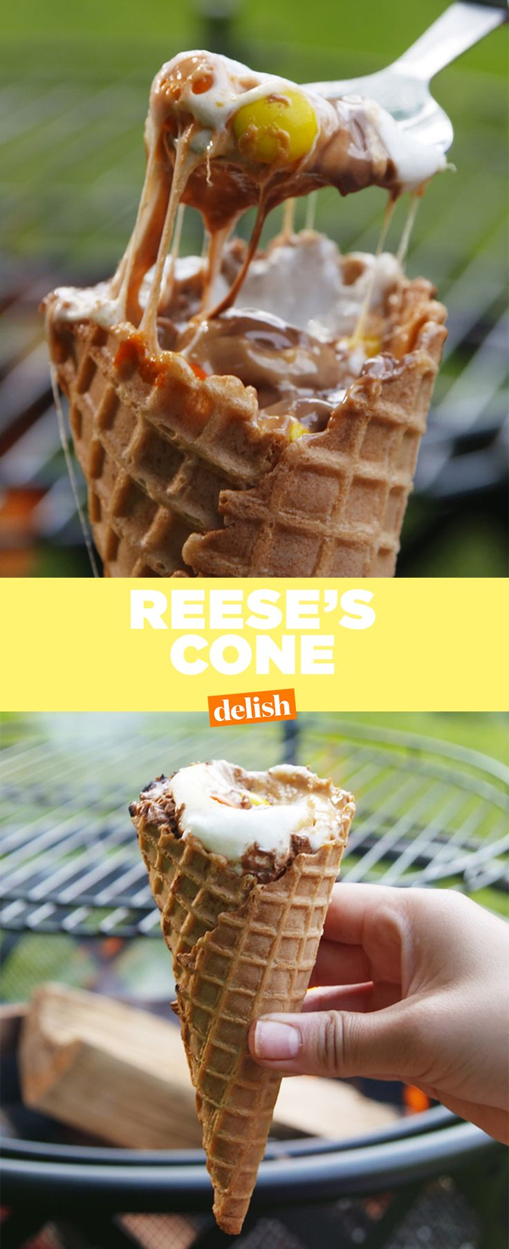 Who knew you could do this with an ice cream cone?! Get the recipe from Delish.com.