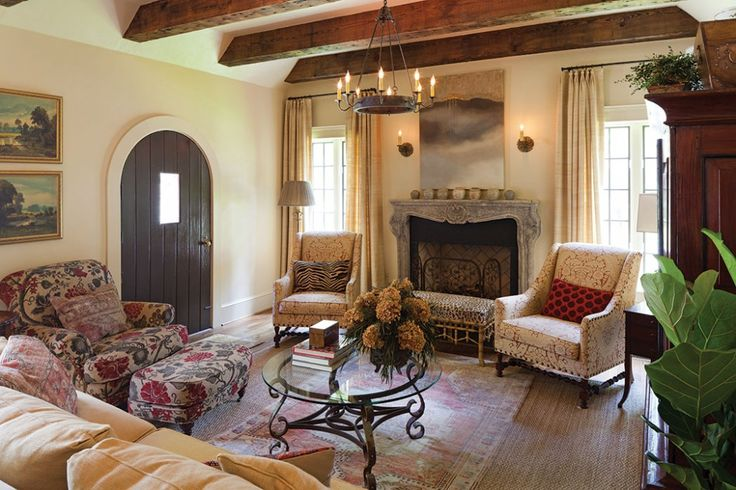 Renovated English Tudor Livingroom Lovely Colors And