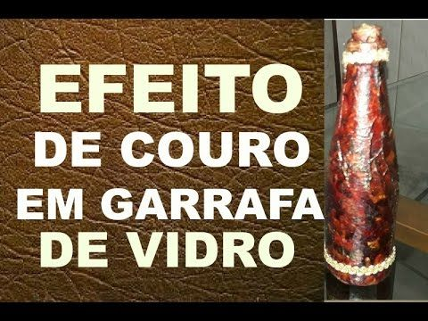 EFEITO DE COURO EM GARRAFA /// MINHA CARTA DO GOOGLE ADSENSE