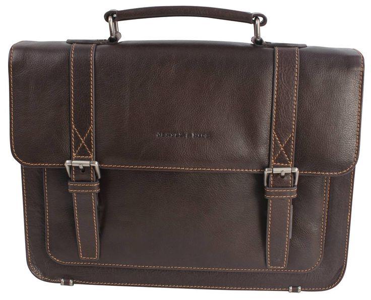 Jekyll and Hide Barcelona Leather Slim Briefcase - Rosewood | Rosewood Bag | KJ Beckett