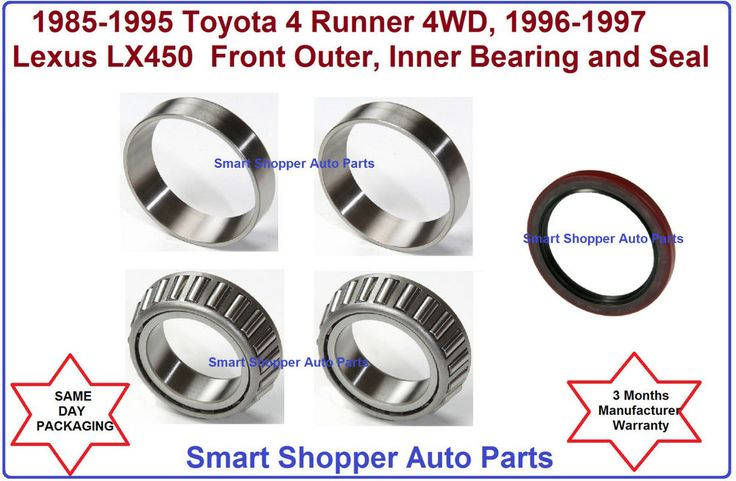 1985-1995 T 4 Runner, 96-97 Lexus LX450 Front Inner, Outer Wheel Bearing & Seal #AftermarketProducts