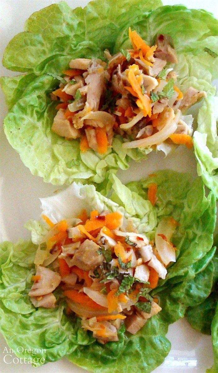 10 minute chicken lime lettuce wraps made with rotisserie chicken for fast weeknight meals