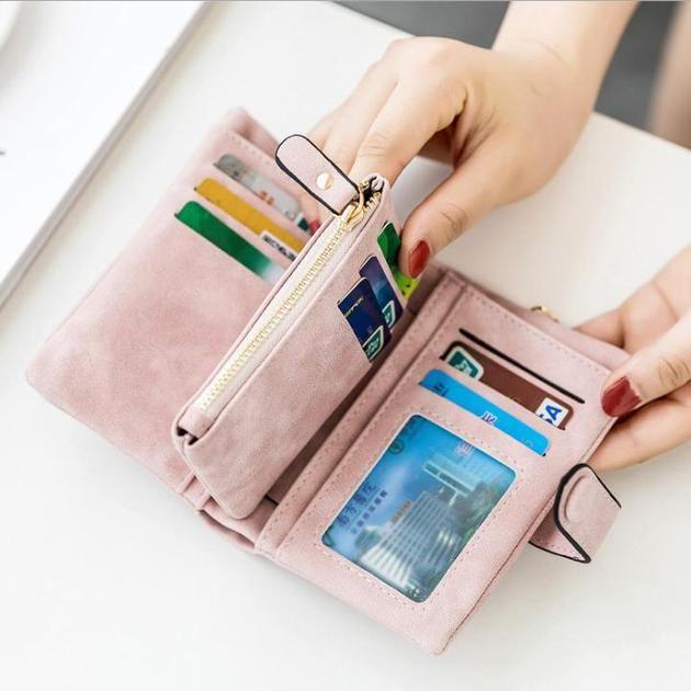 Women/'s Tri-fold Multi-Card Wallet Purse Card Holder Case Fashion Leather Clutch