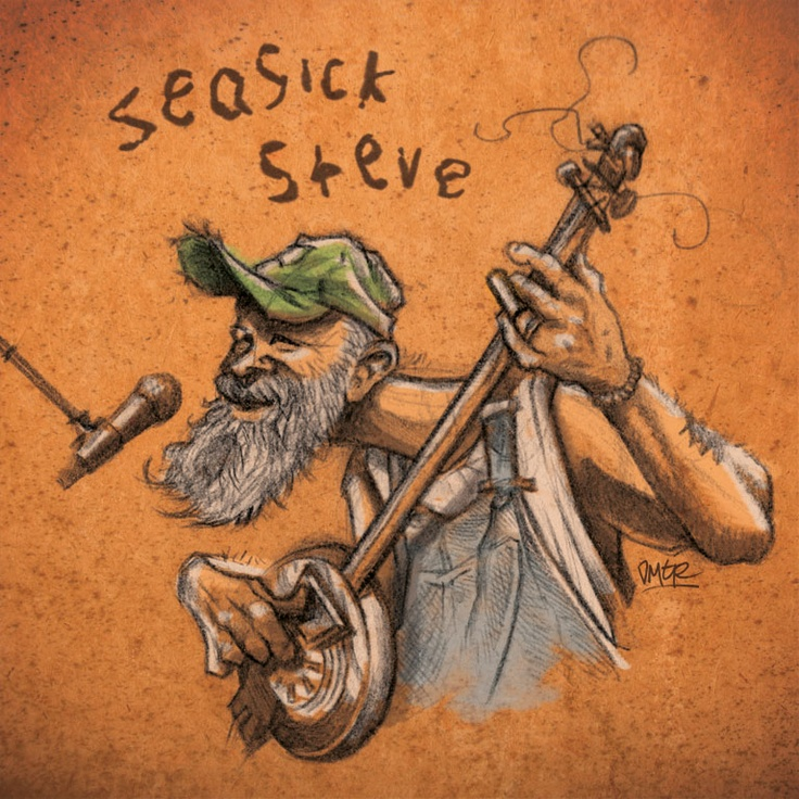 Seasick Steve. Wow wicked drawing! Loving that its got my dads guitar he built in it :)