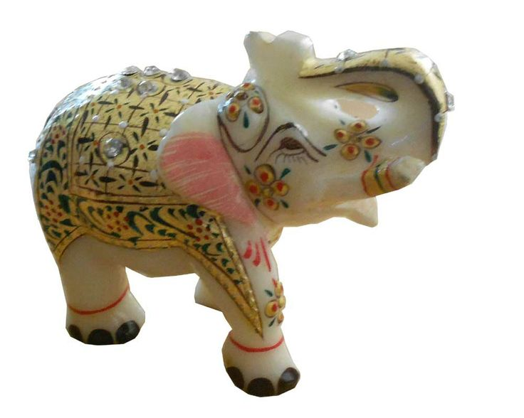Gorgeous #Lucky #Handmade #Indian #Marble #Elephant #Figure #Gold #Painting 9 X 11 http://kalracreations.com/home-furnishing/marble-art/lucky-handmade-indian-marble-elephant-figure-gold-painting-9-x-11.html