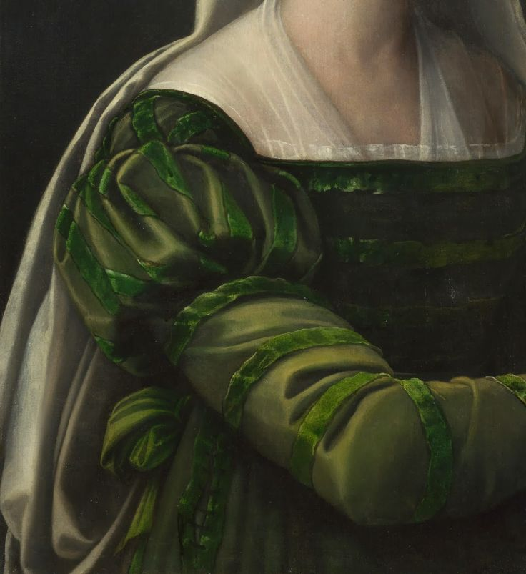 Sabastiano del Piombo • Portrait of a Lady with the Attributes of Saint Agatha - 1540 (Detail)
