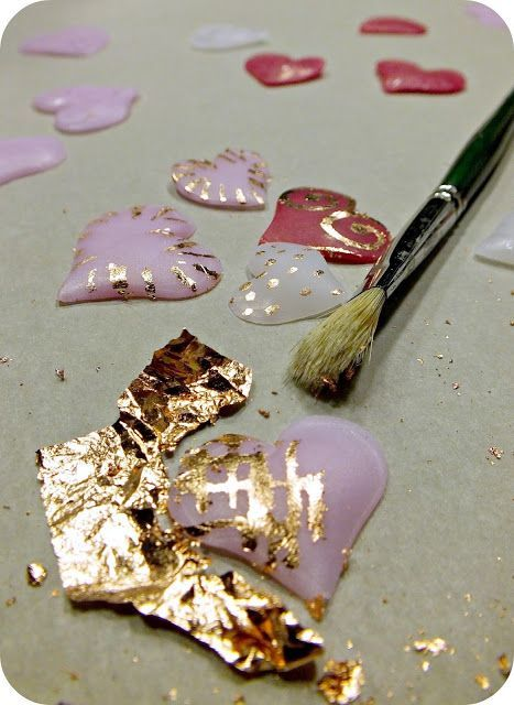 ...Make It With Me: Valentine Tutorial Glass Style Heart Pendants ~ Polymer Clay Tutorials