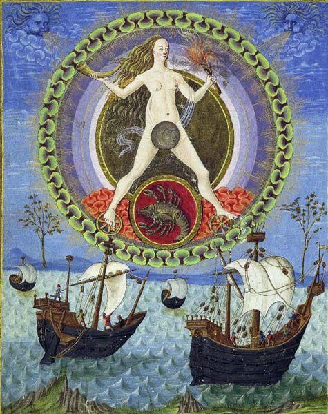 Alchemy: The Moon. De Sphaera Biblioteca Estense Universitaria (Modena, Italy), 15th century.