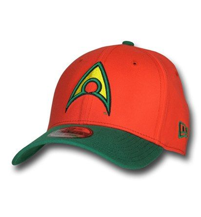 Images of Aquaman Symbol Orange 39Thirty Cap