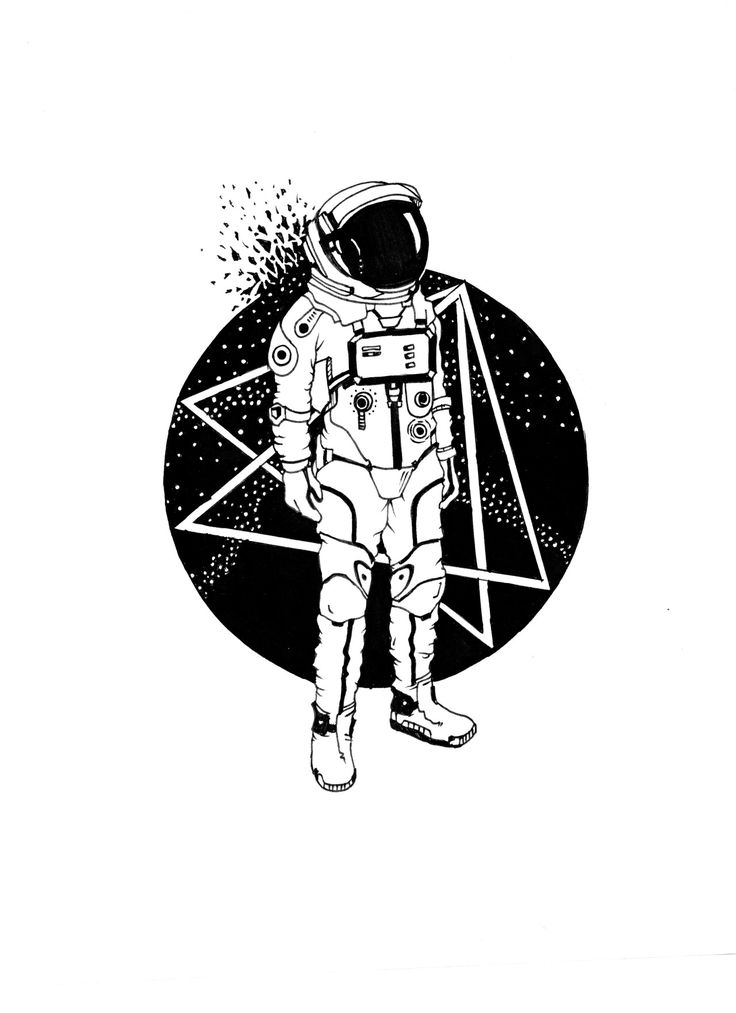 astronaut space drawing - photo #25