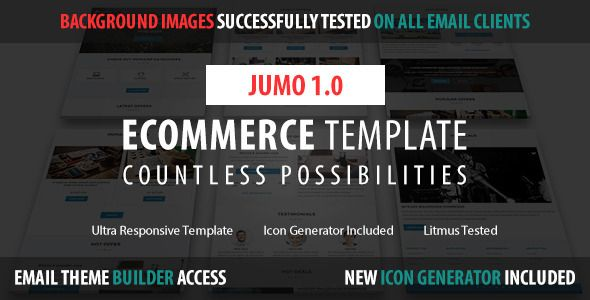 Jumo - Responsive Shop Email Template - Newsletters Email Templates