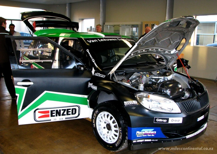 New Zealand rally driver, Hayden Paddon, was kind enough to drop round to show-off his Skoda just before the Brother Rally. #rally #skoda