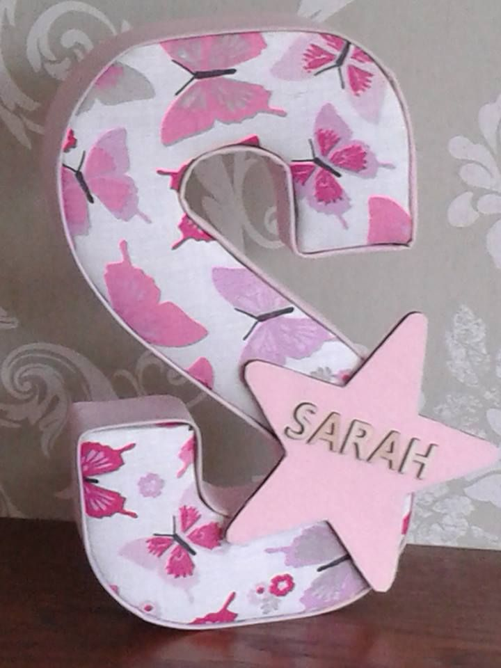 Fabric Covered Letters Baby Christening Gifts Letters