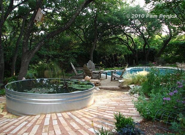 Stock Tank Pond Garden Pinterest