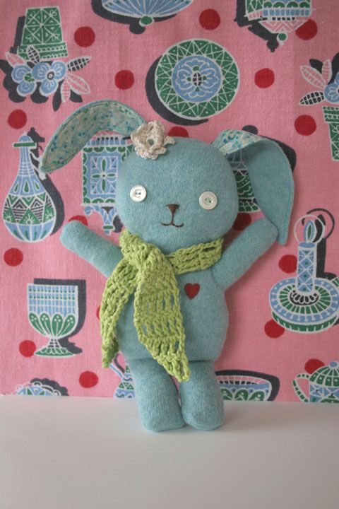 Bunny, to make from the kid's old sweater.