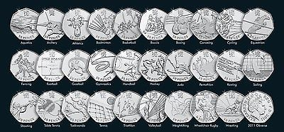 #London 2012 olympic games fifty pence 50p #coins - uk #seller,  View more on the LINK: http://www.zeppy.io/product/gb/2/121950251503/