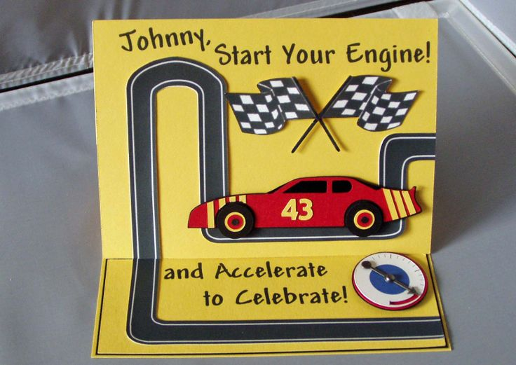 17 best images about Race Car Birthday Cards – Birthday Cards with Cars