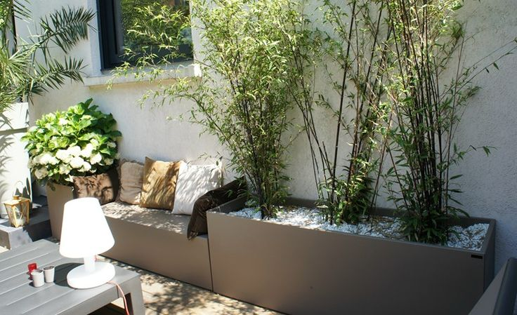 Garden bench with integrated planter by IMAGE'IN by Création CJCJ design Fabien JOLY