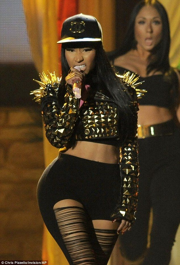I love her hat and jacket, but the leggings...not so much!! Lol! XD Nicki Minaj 2013 Billboard Music Awards