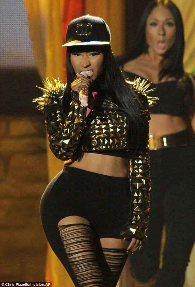 I love her hat and jacket, but the leggings...not so much!! Lol! XD Nicki Minaj 2013 Billboard Music Awards