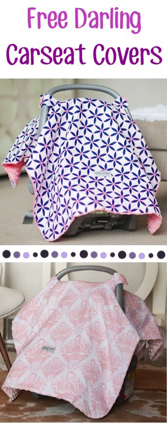 FREE Baby Carseat Canopy Cover! {just pay s/h} - these make the BEST gifts for Baby Showers!! #babies #thefrugalgirls