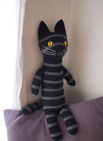 cat sock doll by miyako kanamori