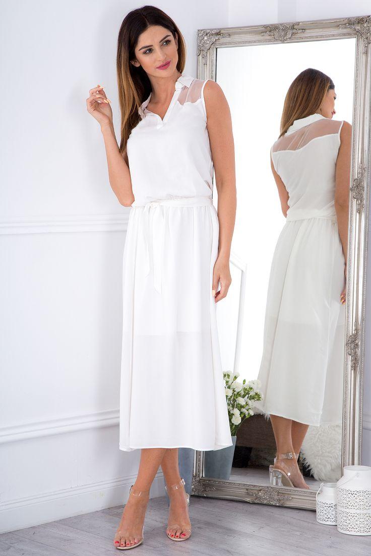 Maxi sukienka z kołnierzykiem 20880