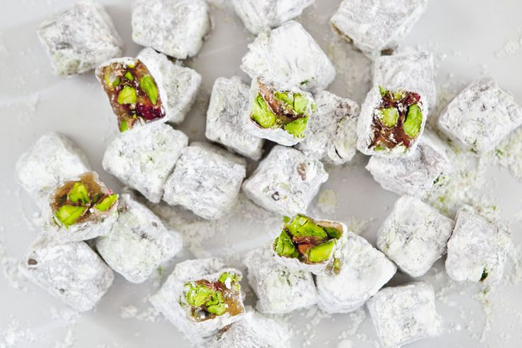 Turkish Delights (Lokum) with Double-Roasted Pistachios.