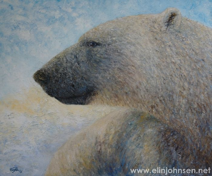 Polar Bear. Oil on canvas 2017. 50x60cm. #polarbear #bear #wildlifeart