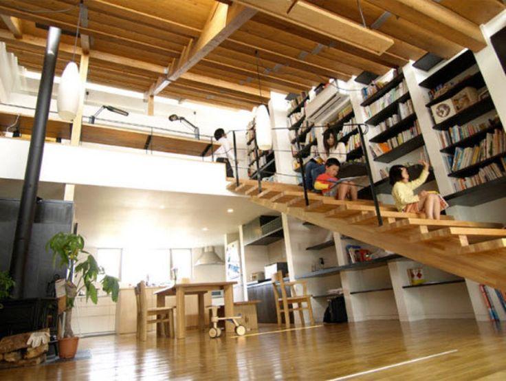 作り付けの巨大本棚 | 住宅デザイン | ページ 27