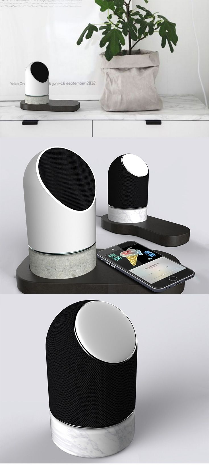The 'Stoned Speakers' would make the CMF Design enthusiast proud, they come in two variants that make use of four diverse materials for their construction... READ MORE at Yanko Design !