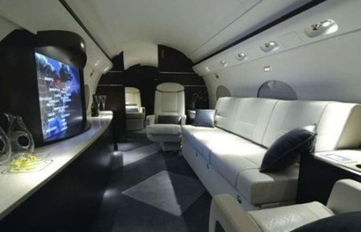 Gulfstream III Private Jet: $125 million:   The aircraft's entertainment zone seriously wows with an extra-large HD LCD screen, movie theater-quality audio and lighting. Best of all, it has cool mood windows that change color and opacity to enhance the viewing experience.  -    Inside the world's most expensive private jets
