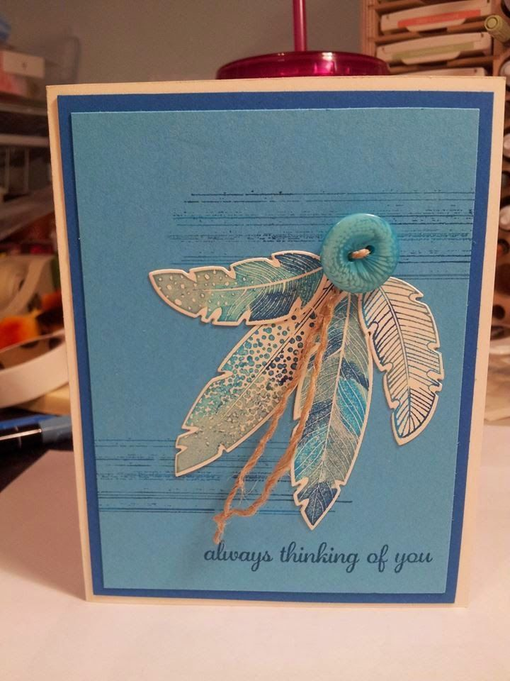 Four Feathers Stampin' Up!