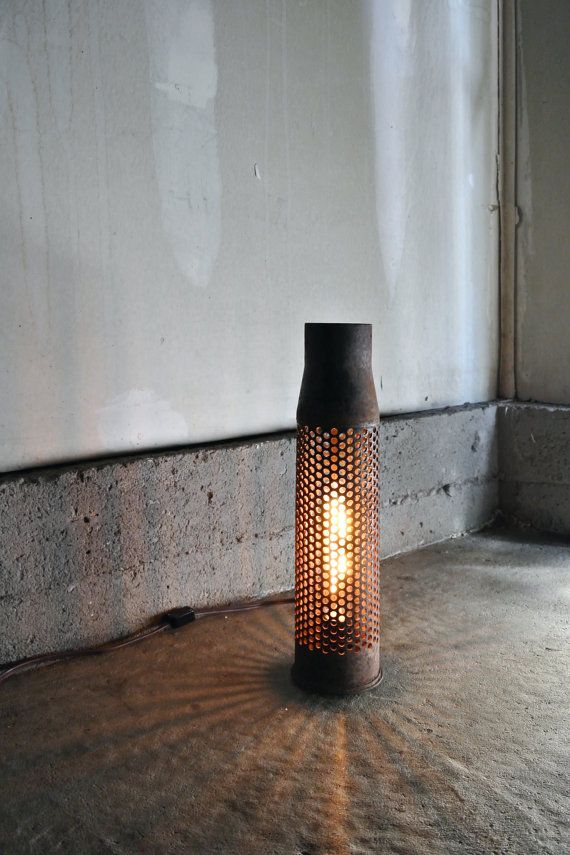 New & Improved - Bullet Shell Lamp - Dimmable Lamp - Unique Gift - Man Cave Lighting - Rustic Lighting