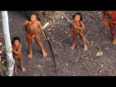 For the first time, extraordinary aerial footage of one of the world's last uncontacted tribes.