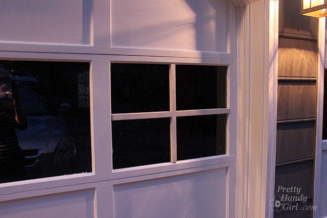 diy update garage door windows with grills