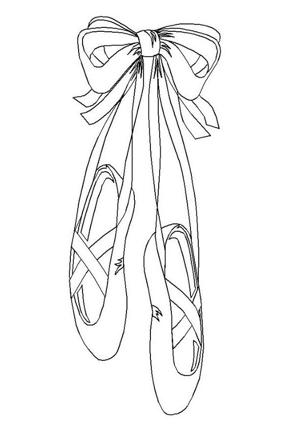 ballet shoes adult coloring pages