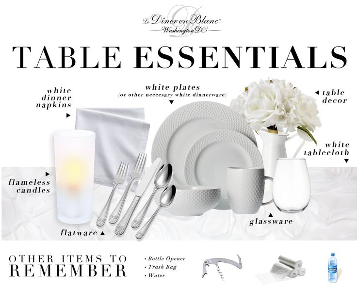 Dîner en Blanc - Washington D.C. - Preparing for Diner en Blanc: Table Essentials!