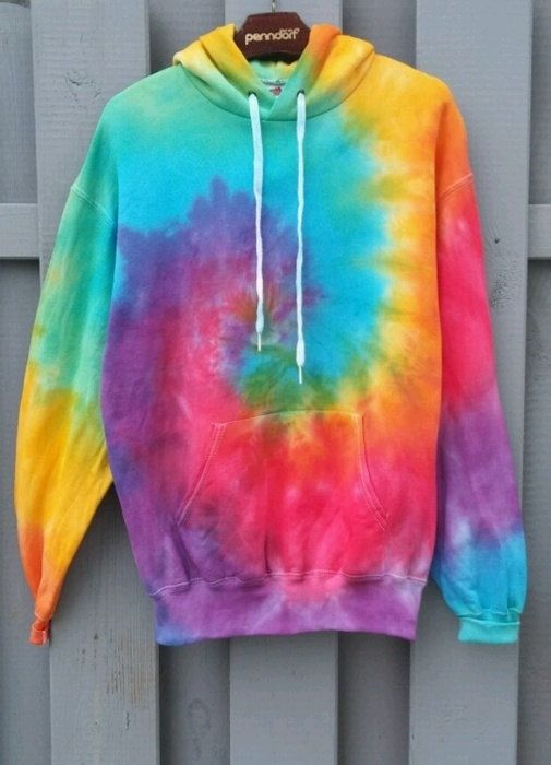 Heldere Tie-Dye Hoodie kleurrijke nieuwe hipster door SpacyShirts