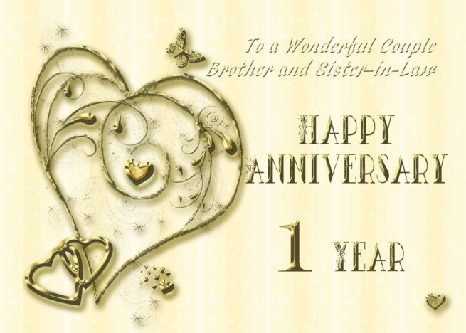 1 Year Anniversary Card For Brother And Sister In Law Card Ad Affiliate Card A Anniversary Cards For Couple Anniversary Cards Wedding Anniversary Cards