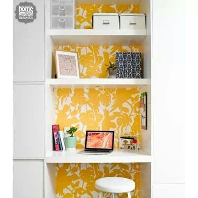 Clever carpentry, study nook