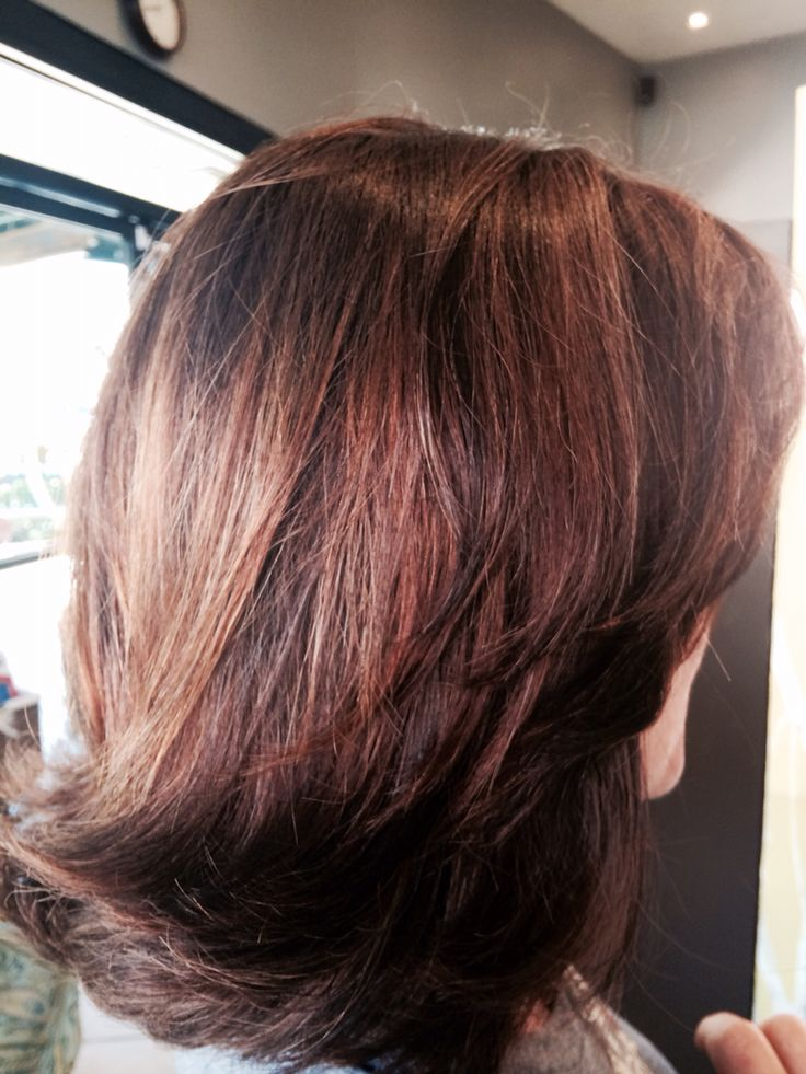 Cocoa Hair Color With Cinnamon Highlights