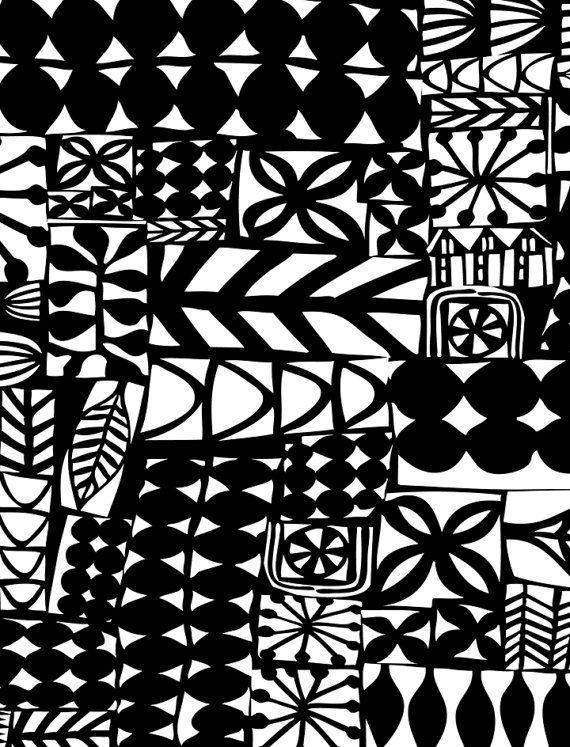 black scandi art print by swallowfield on Etsy