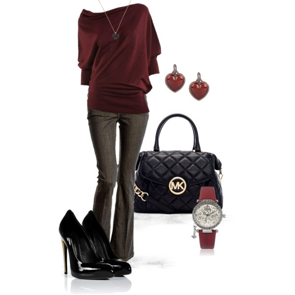 """""""Maroon"""" by mgfrias on Polyvore"""