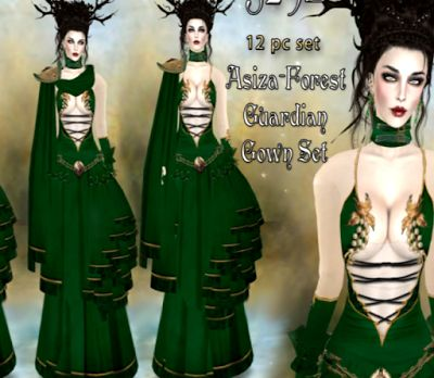 Nessaja Freebies - Second Life Freebies and more: Asiza Forest Gown