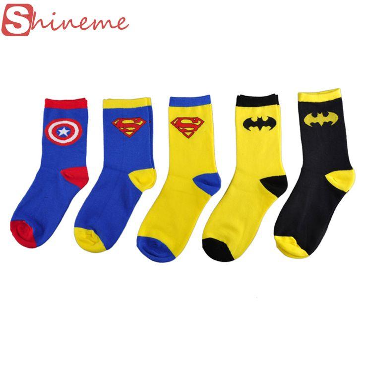 Новое высокое качество Взрослых Супермен batmen супергерой мужской узорные счастливые веселые мужские носки чулочно-носочные изделия женщины женский набор #CLICK! #clothing, #shoes, #jewelry, #women, #men