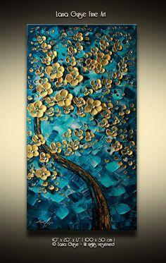 Original Öl abstrakt Heavy texturierter Spachtel Gemälde von Lana Guise. Dick Gallery Keilrahmen Ready to Hang Es kann auch in andere